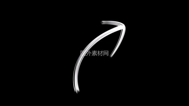 弯曲指向右上角的箭头vfx视频素材