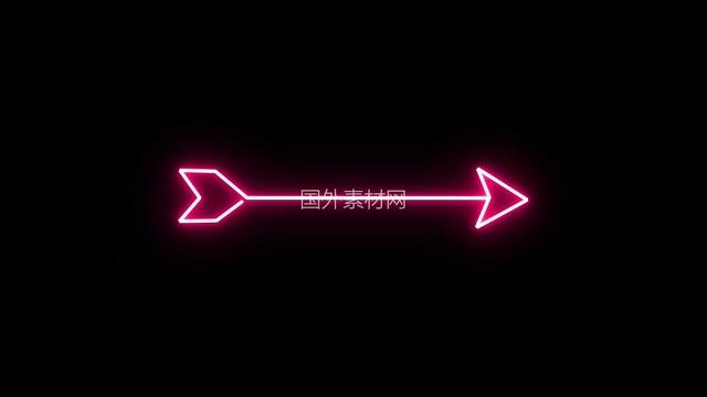 粉红色箭头霓虹灯vfx视频素材