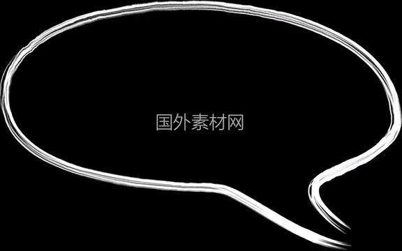 聊天气泡手绘vfx视频素材样式1