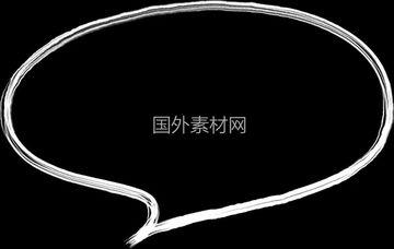 聊天气泡手绘视频素材样式2
