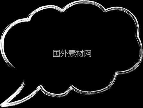 聊天气泡手绘视频素材样式3