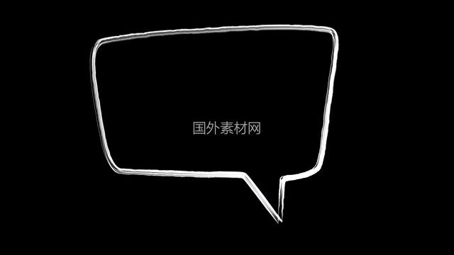 聊天气泡手绘视频素材样式5