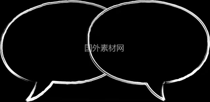 聊天气泡手绘视频素材样式8