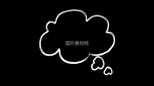 聊天气泡手绘视频素材样式9