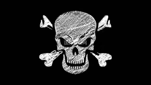 骷髅头手绘vfx叠加视频素材