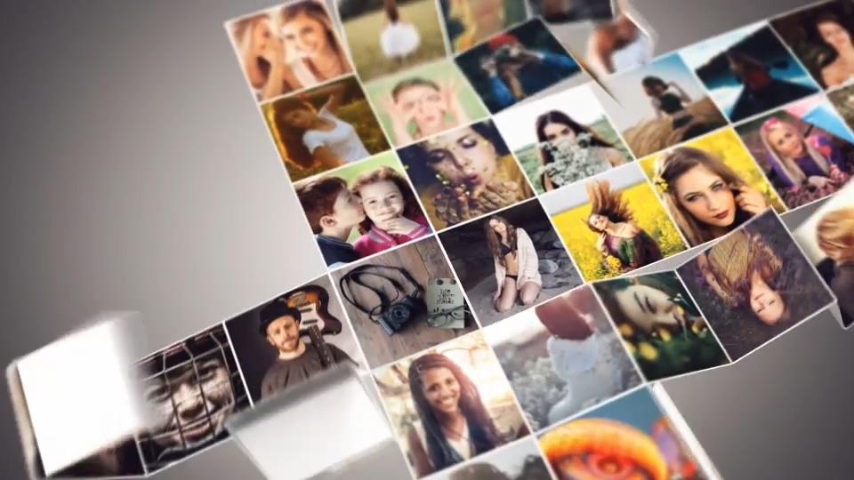 折叠开来的照片墙AE模板