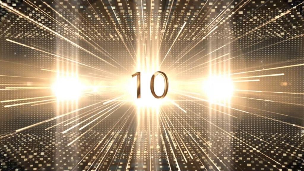 宽屏颁奖典礼晚会十秒倒计时视频素材