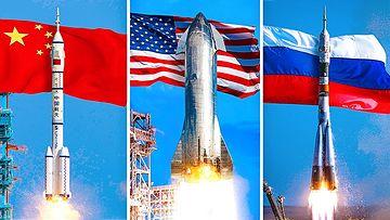 世界大国新太空竞赛视频素材完整版