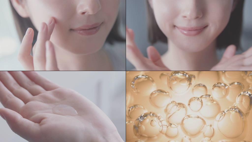 皮肤水咚咚有弹性的小清新美女视频素材