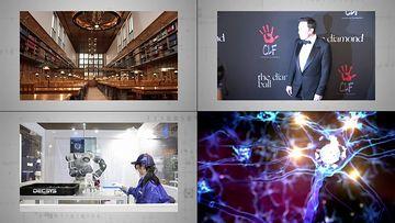 埃隆马斯克neuralink公司视频素材