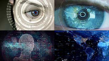 眼部高科技包装视频素材