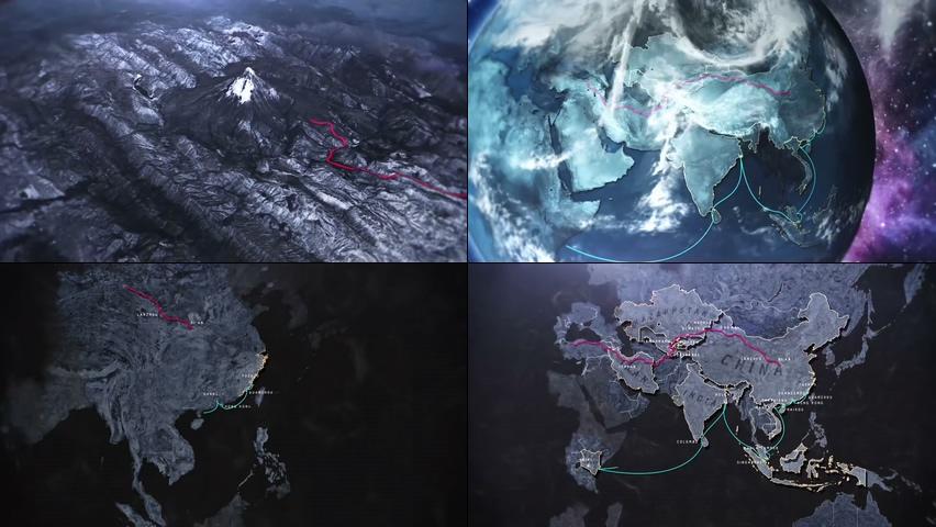 地球片头包装丝绸之路