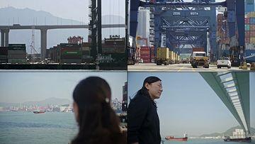 香港码头视频素材