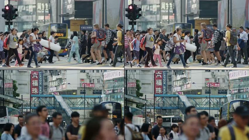 香港街头的行人视频素材