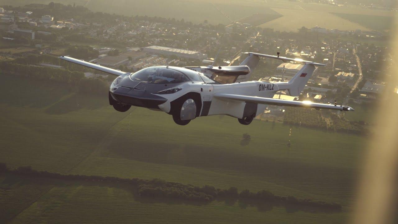 飞行汽车城际飞行视频素材完整版