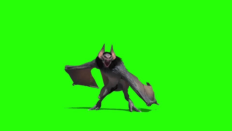 蝙蝠怪绿幕视频素材