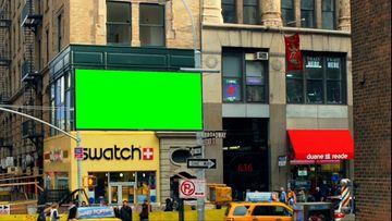 国外街头电视广告牌视频素材