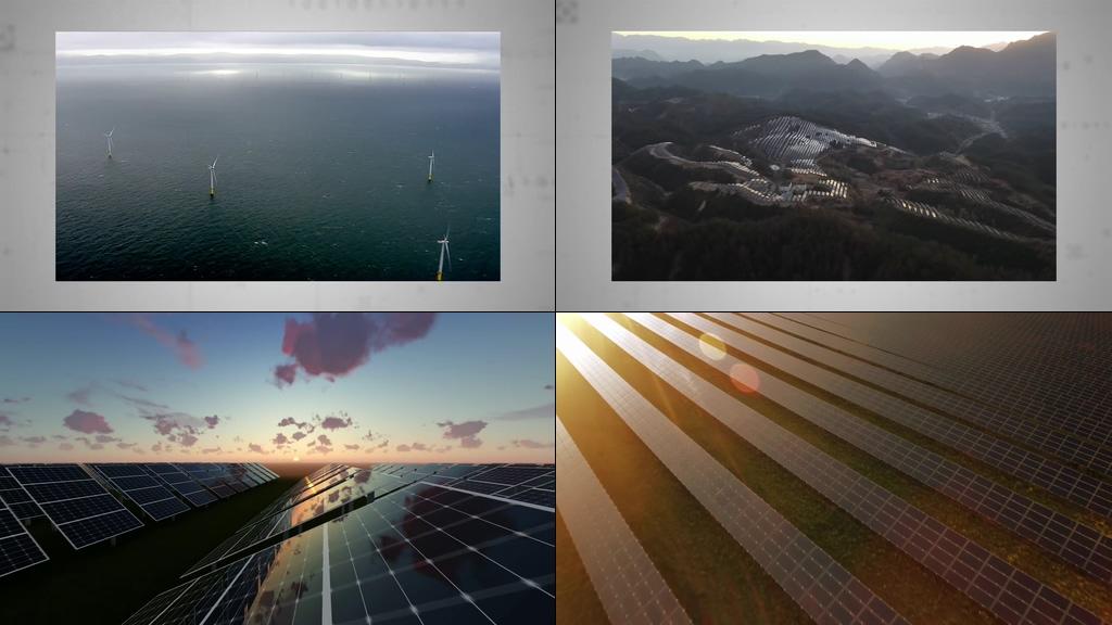 新型绿色能源大型光伏太阳能电力工厂视频素材