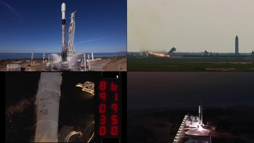 NASA飞行器火箭升空视频素材