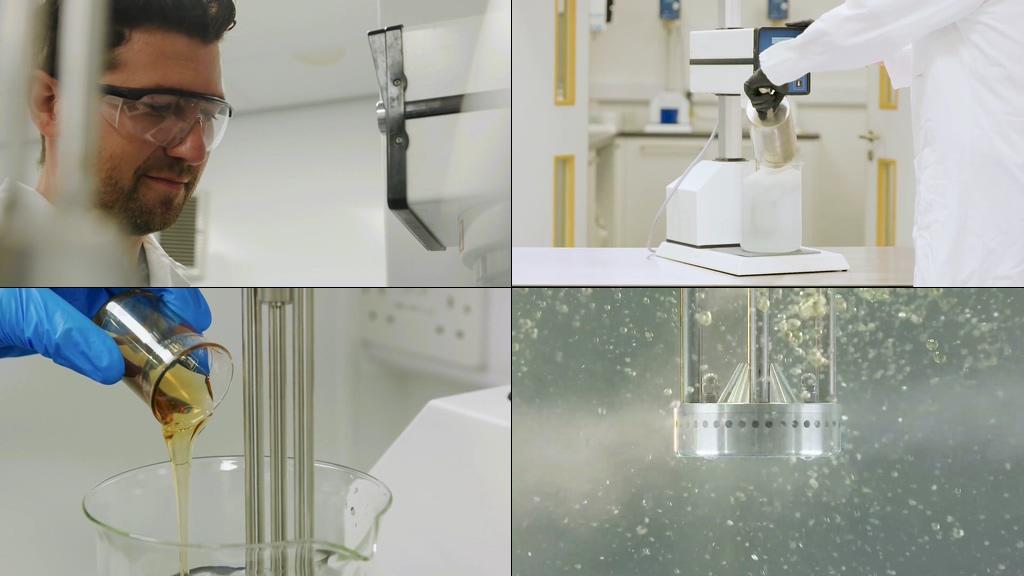化妆品成分混合实验研发视频素材