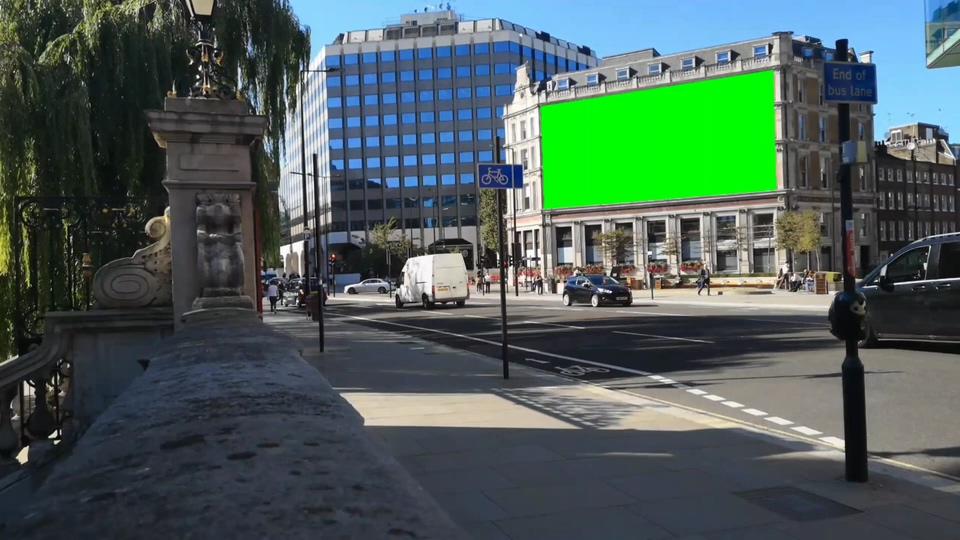 电视广告牌绿幕视频素材