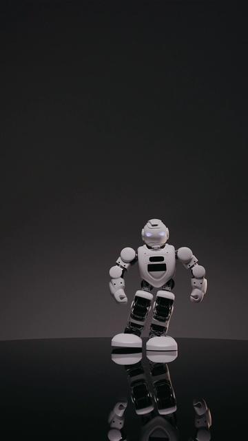 向镜头走过来的机器人竖屏视频