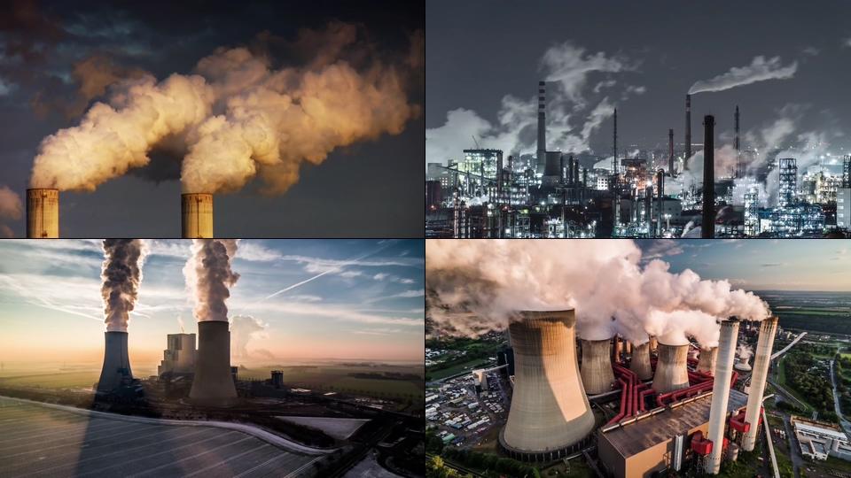 碳排放空气污染视频素材