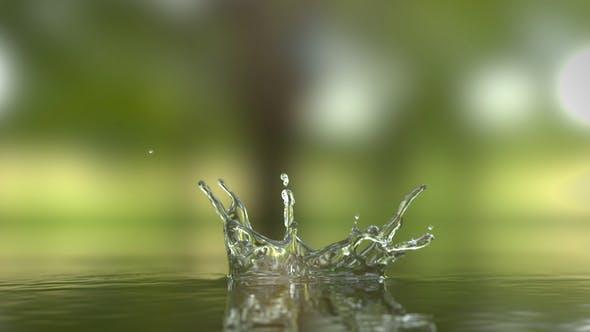 水滴标志logo展示ae模板