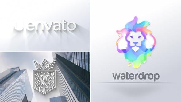 描边波纹logo演绎ae模板