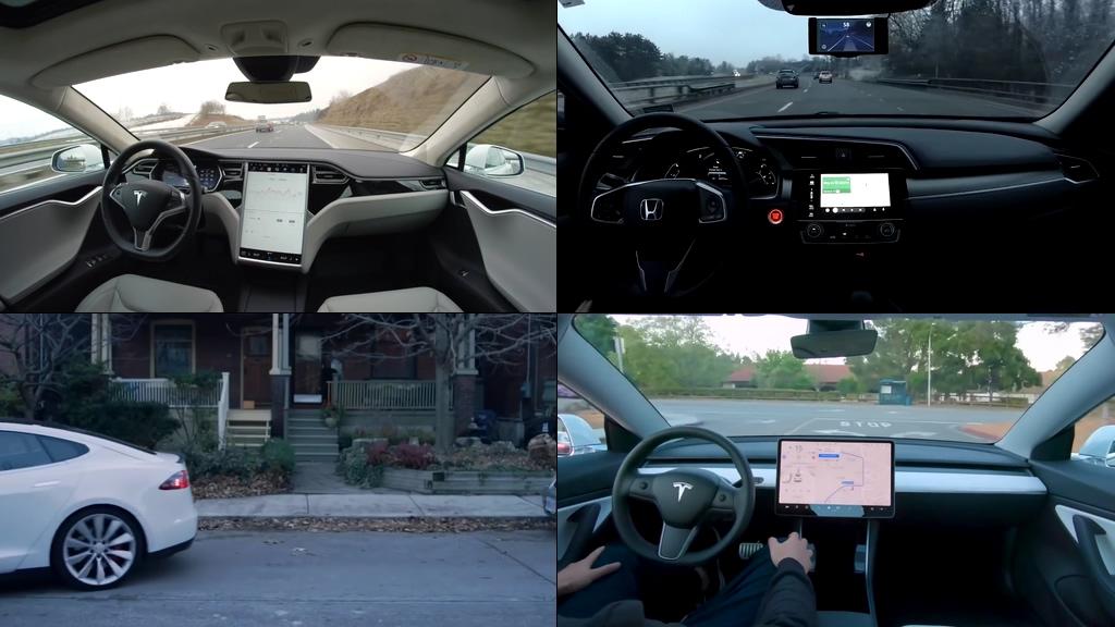 无人驾驶汽车多品牌高清视频素材