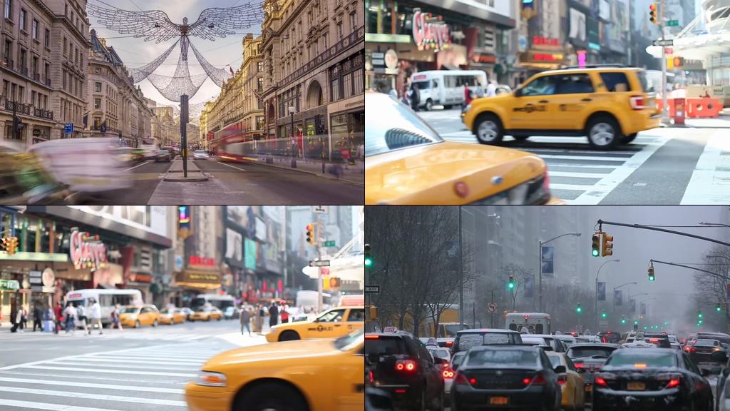 计程车出租车视频素材