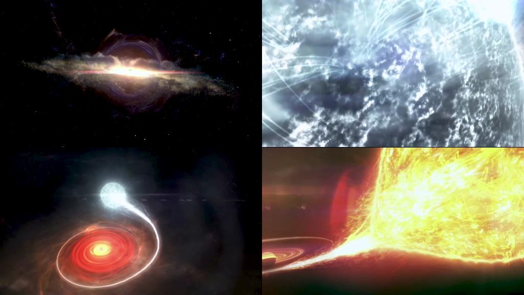 宇宙黑洞吸收恒星视频素材