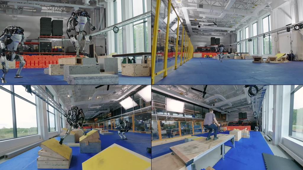 国外机器人研发视频素材