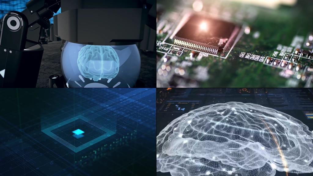 未来高科技人机互联AI智能视频素材