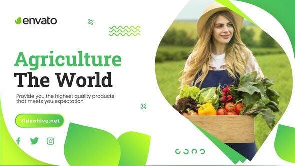 绿色农业宣传片实用ae模板