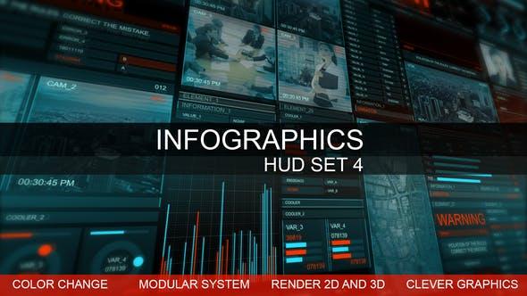 信息图表hud智能图形ae模板