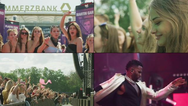 参加音乐节的美女DJ跳舞视频素材