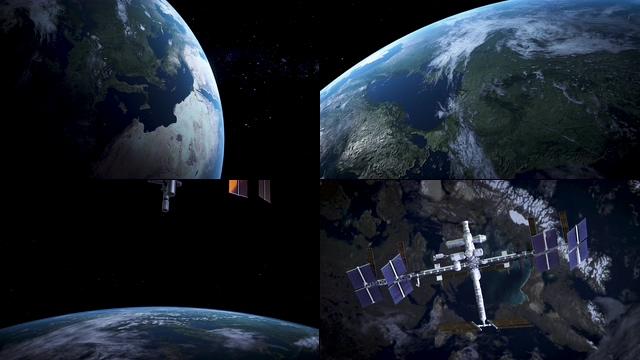 4K太空中的地球表面视频素材