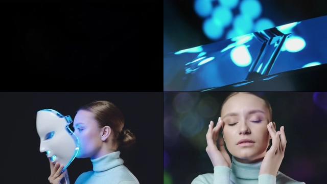 光学护肤面罩视频素材
