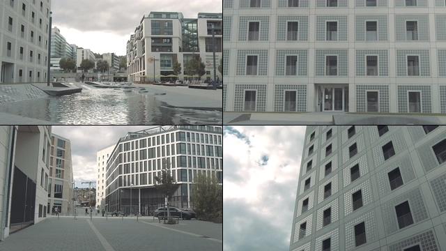 安静的街道和建筑视频素材
