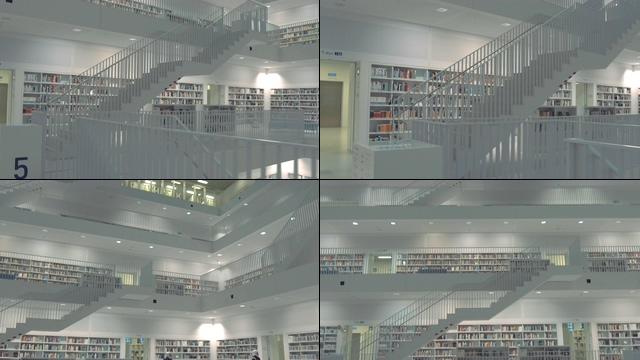 宽敞明亮的图书馆视频素材