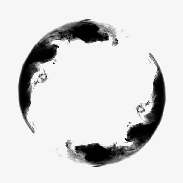 免扣黑色水墨中国风装饰PNG素材