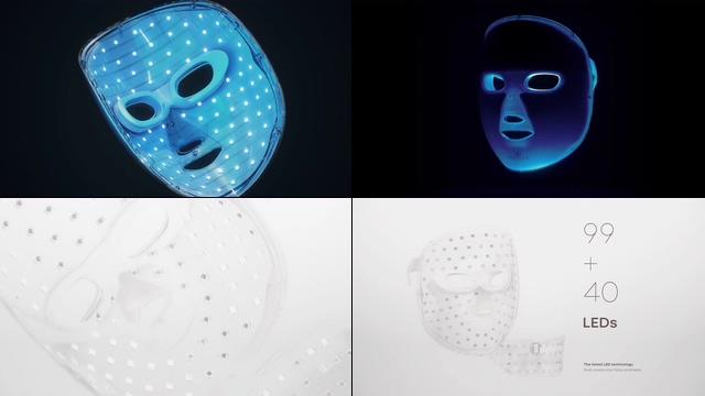 光学护肤面罩美容视频素材