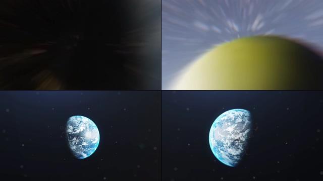 旋转的地球地球缩放高清视频素材