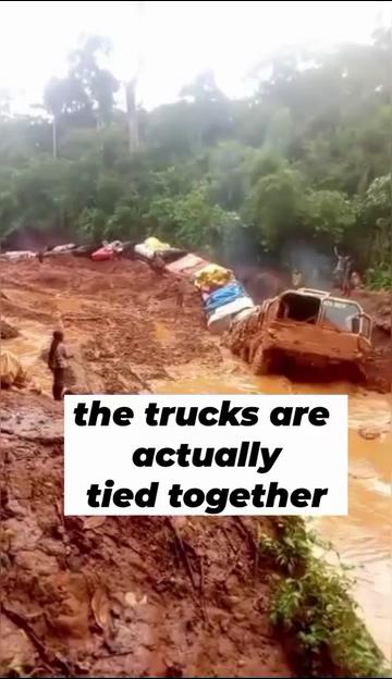 这个货车司机是真的高手视频素材