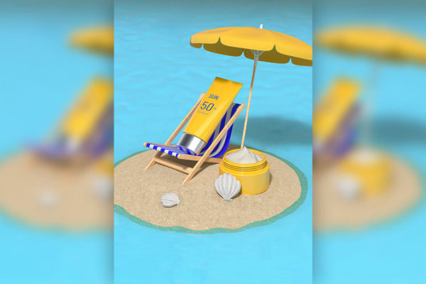 精品夏季沙滩防晒护肤品广告背景图jpg源文件,编号:82622775