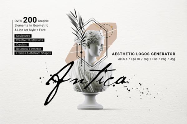 精品美学艺术Logo标志插画包ai,eps,svg,psd,png,jpg源文件,编号:82637692