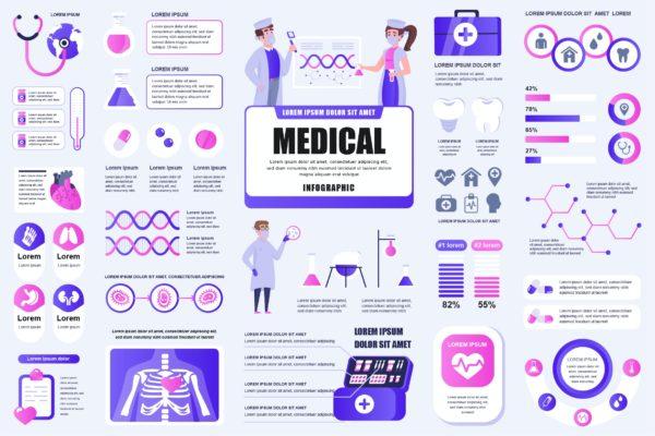 精品医疗信息数据图表AI,EPS,JPG,PNG,PDF,SVG源文件,编号:82620862