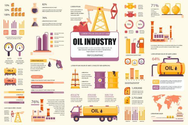 精品石油开采信息数据图表AI,EPS,JPG,PNG,PDF,SVG源文件,编号:82631594