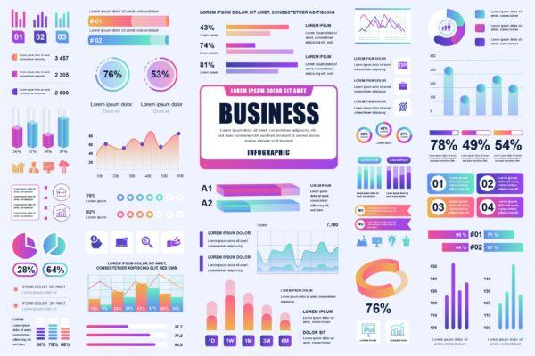 精品商业信息数据图表AI,EPS,JPG,PNG,PDF,SVG源文件,编号:82631824